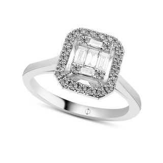 0.35 ct Baguette Diamant Ring
