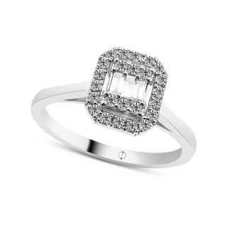 0.22 ct Baguette Diamant Ring
