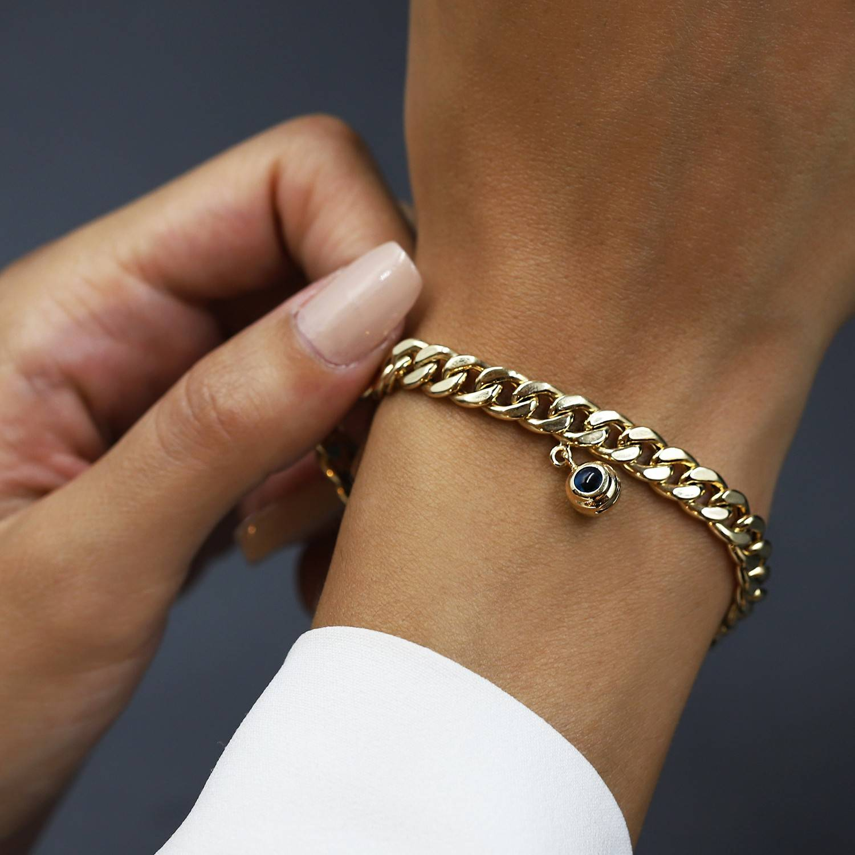 "14 Karat Gold Armband Schutzauge ""Nazar"""