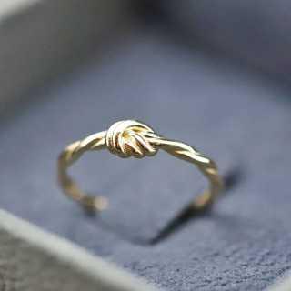 """14 Karat """"Knot"""" Design Gold Ring"""