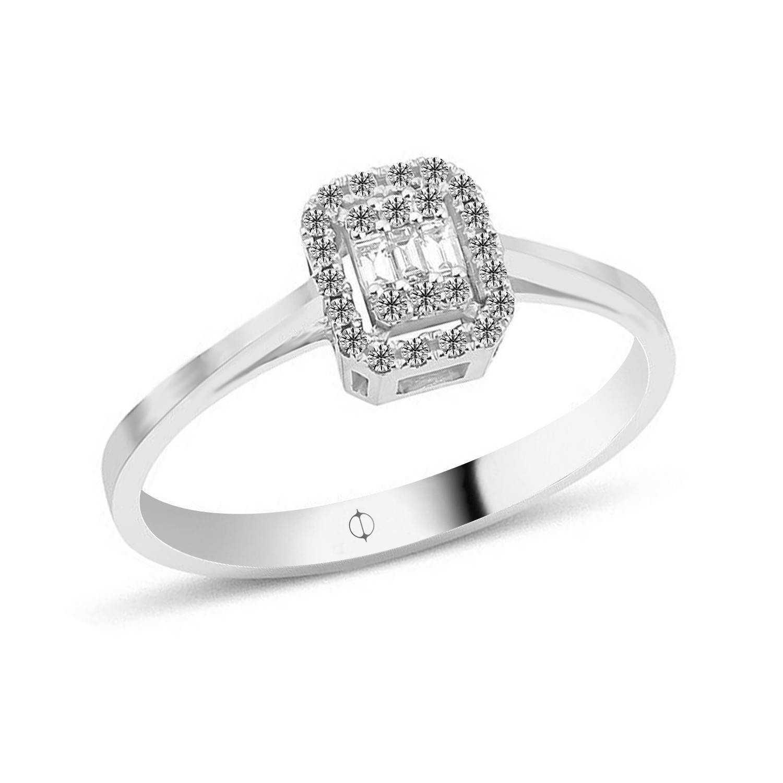 0.17 ct Baguette Diamant Ring