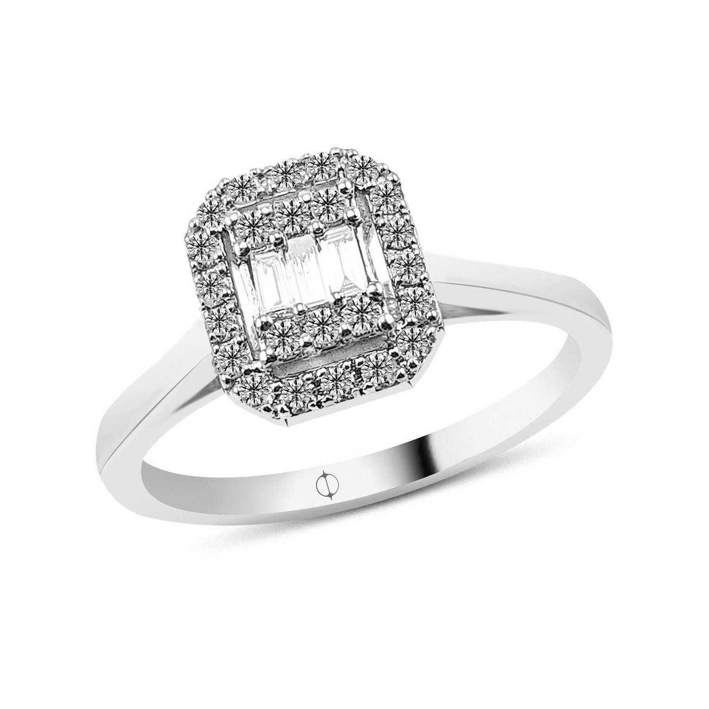 0.22 ct Baguette Diamond Ring
