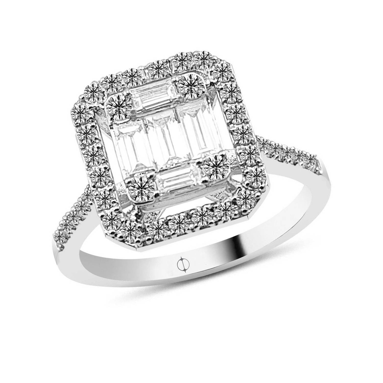 0.87 ct Baguette Diamant Ring