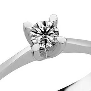 0.24 ct Solitär Diamant Ring