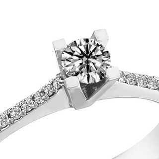 0.30 ct Solitär Diamant Ring