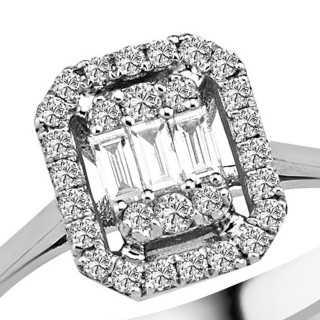 0.39 ct Baguette Diamant Ring