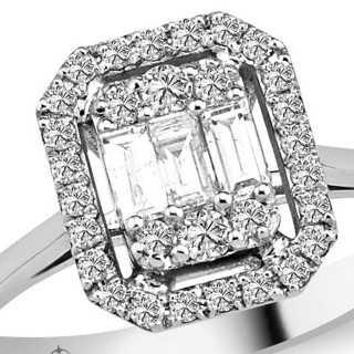 0.59 ct Baguette Diamant Ring