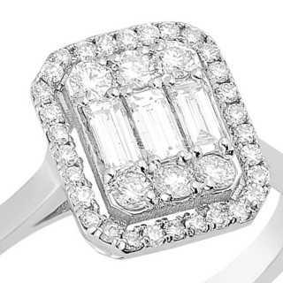 0.66 ct Baguette Diamant Ring