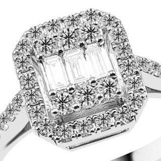 0.47 ct Baguette Diamant Ring