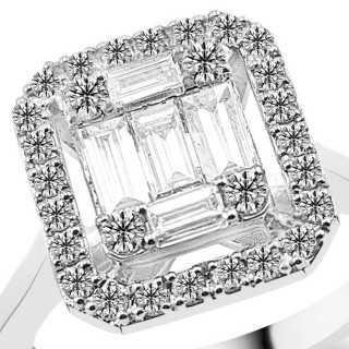 0.72 ct Baguette Diamant Ring