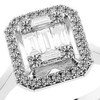 0.49 ct Baguette Diamant Ring