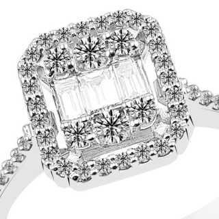 0.50 ct Baguette Diamant Ring