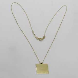 0.10 ct Solitär Diamant Halskette