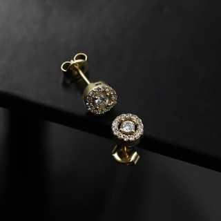"""0.08 ct """"Rose Cut"""" Tropfenform Diamant Ring"""