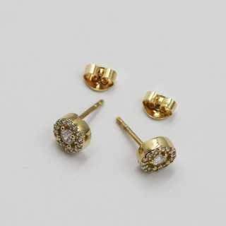 """0.10 ct """"Rose Cut"""" Design Diamant Ring"""