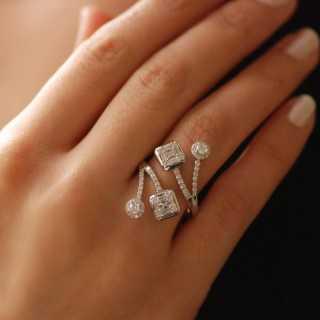 1.26 ct Baguette Diamant Armreif
