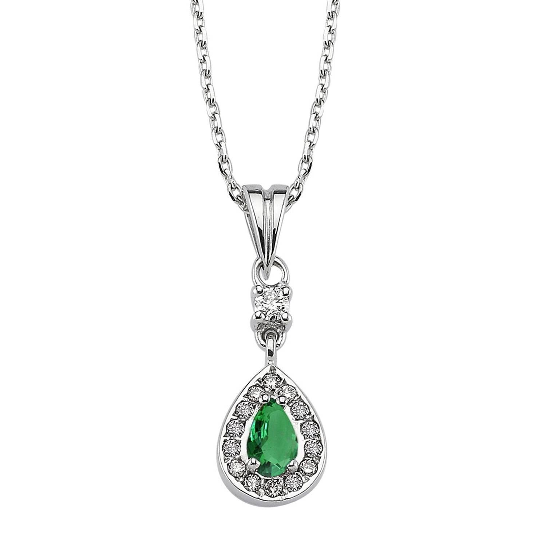 Smaragd & Diamant Halskette