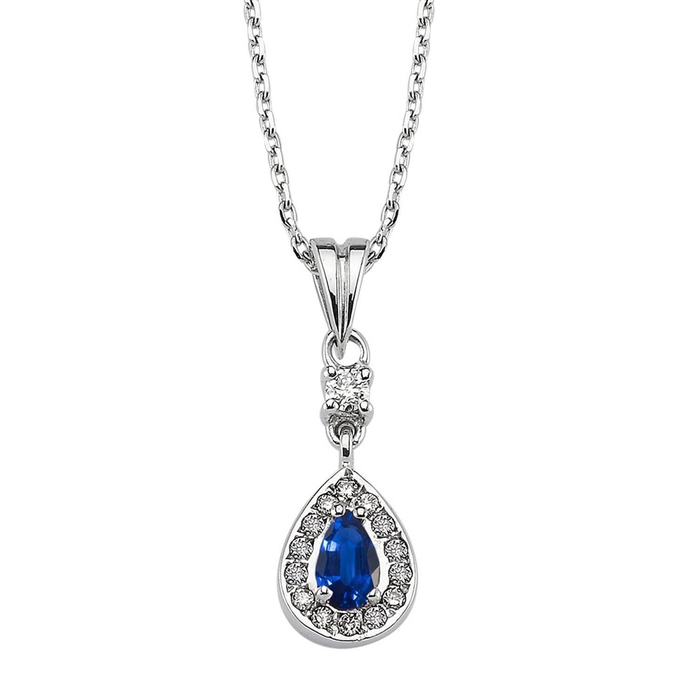 Saphir & Diamant Halskette