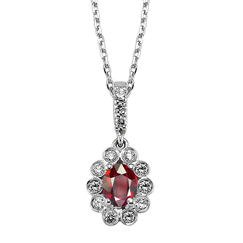 Rubin & Diamant Halskette