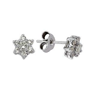"""0.54 ct Diamant """"Stern"""" Design Ohrstecker"""