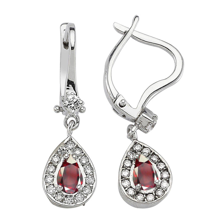 Rubin & Diamant Ohrring
