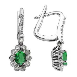 Smaragd & Diamant Ohrring