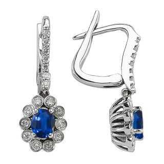 Saphir & Diamant Ohrring