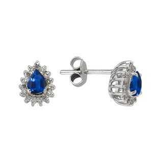 Sapphire & Diamond Stud...