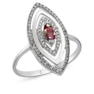 0.37 ct Ruby & Diamond Ring