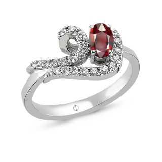 0.78 ct Rubin & Diamant Ring