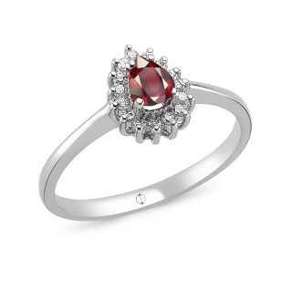 0.55 ct Rubin & Diamant Ring