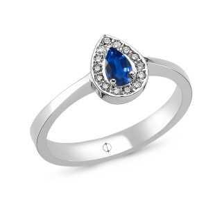 0.29 ct Saphir & Diamant Ring