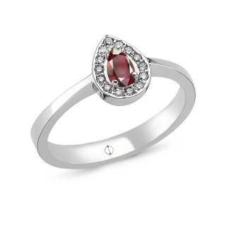 0.29 ct Rubin & Diamant Ring