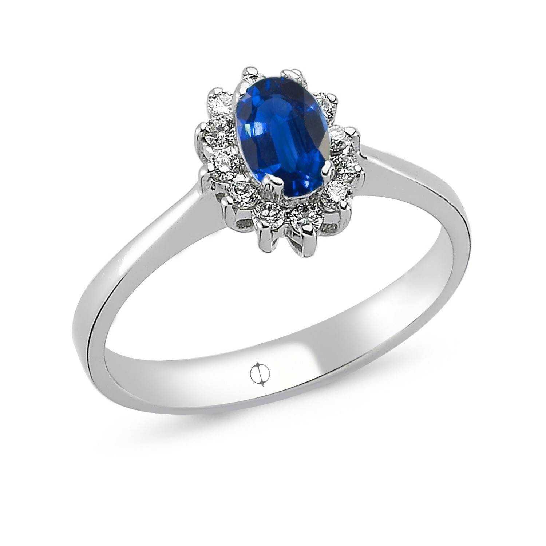0.63 ct Saphir & Diamant Ring