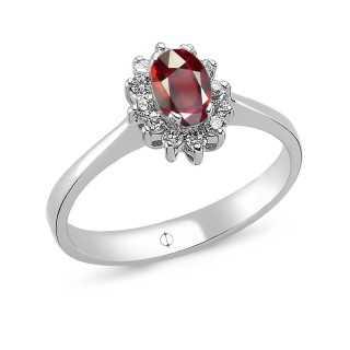 0.63 ct Ruby & Diamond Ring