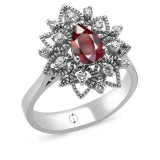 0.97 ct Ruby & Diamond Ring