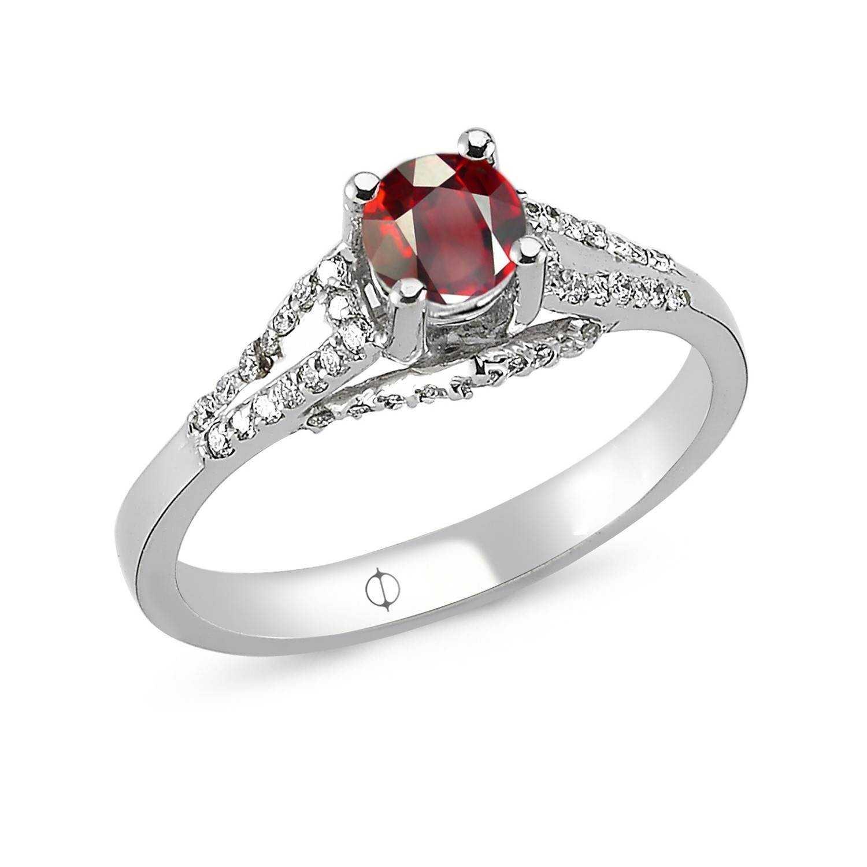 0.71 ct Ruby & Diamond Ring