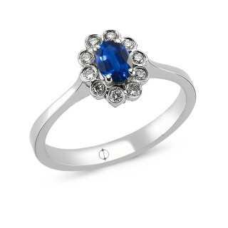 0.48 ct Sapphire & Diamond...