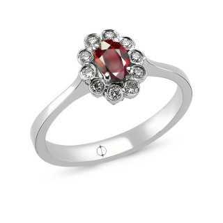 0.48 ct Rubin & Diamant Ring