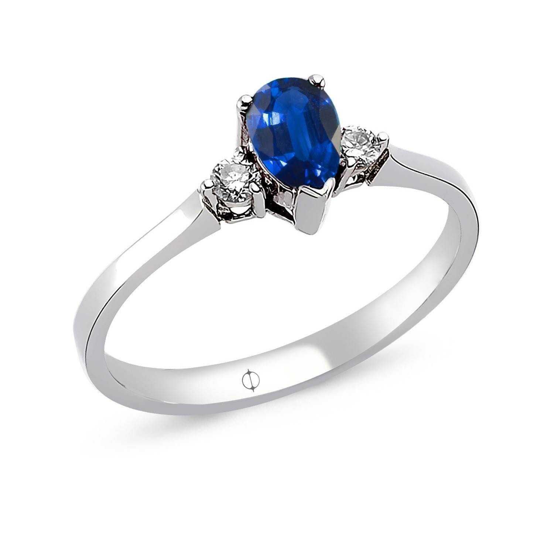 0.63 ct Sapphire & Diamond Ring