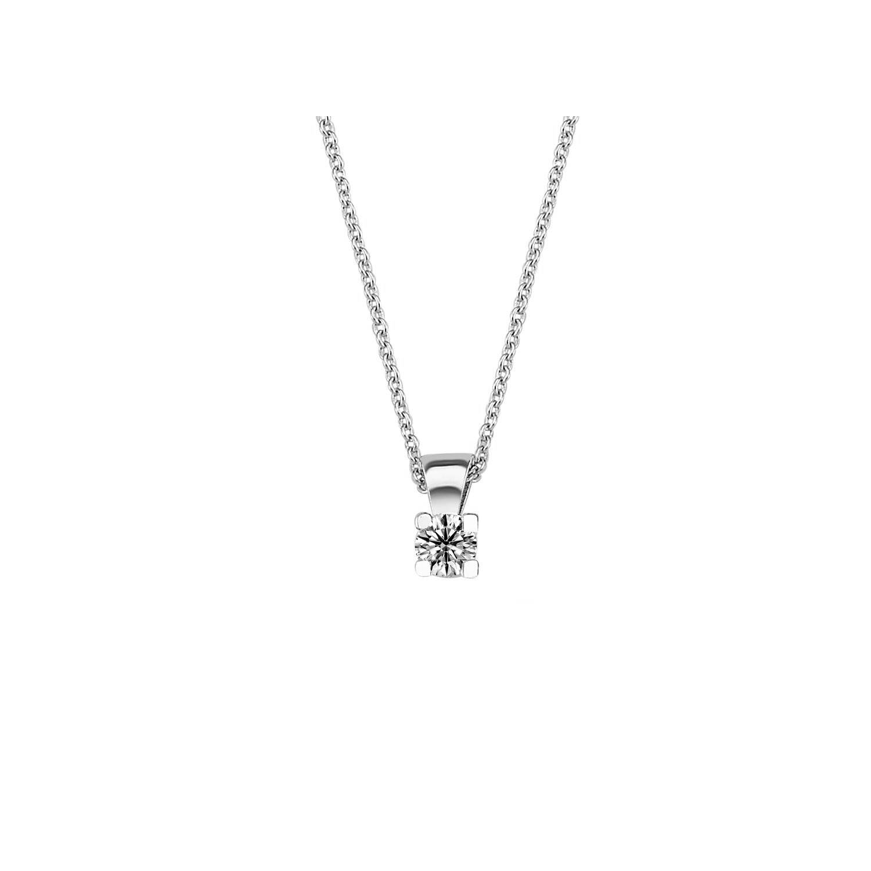 0.10 ct Solitaire Diamond Necklace