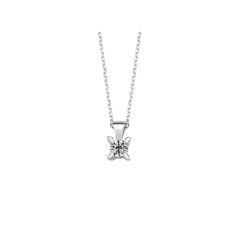 0.15 ct Solitär Diamant Halskette