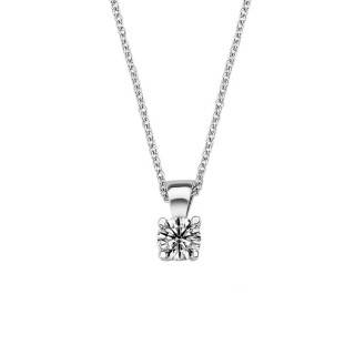 0.20 ct Solitär Diamant Halskette