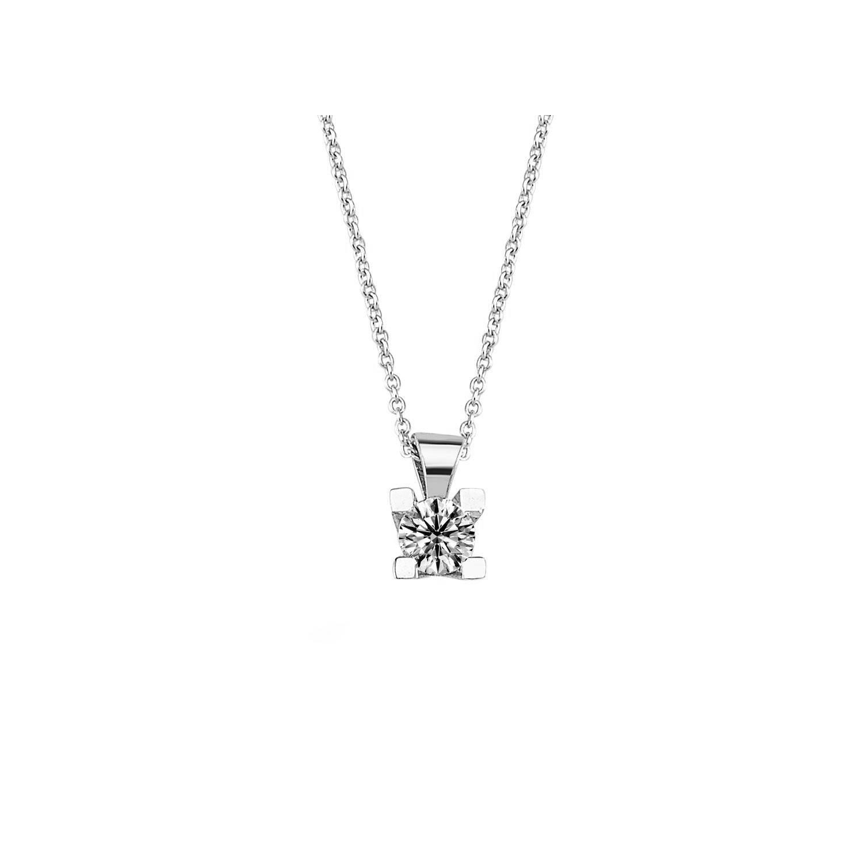0.25 ct Solitär Diamant Halskette