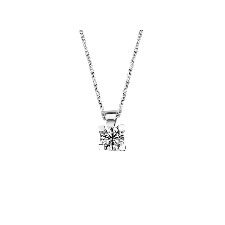 0.30 ct Solitär Diamant Halskette