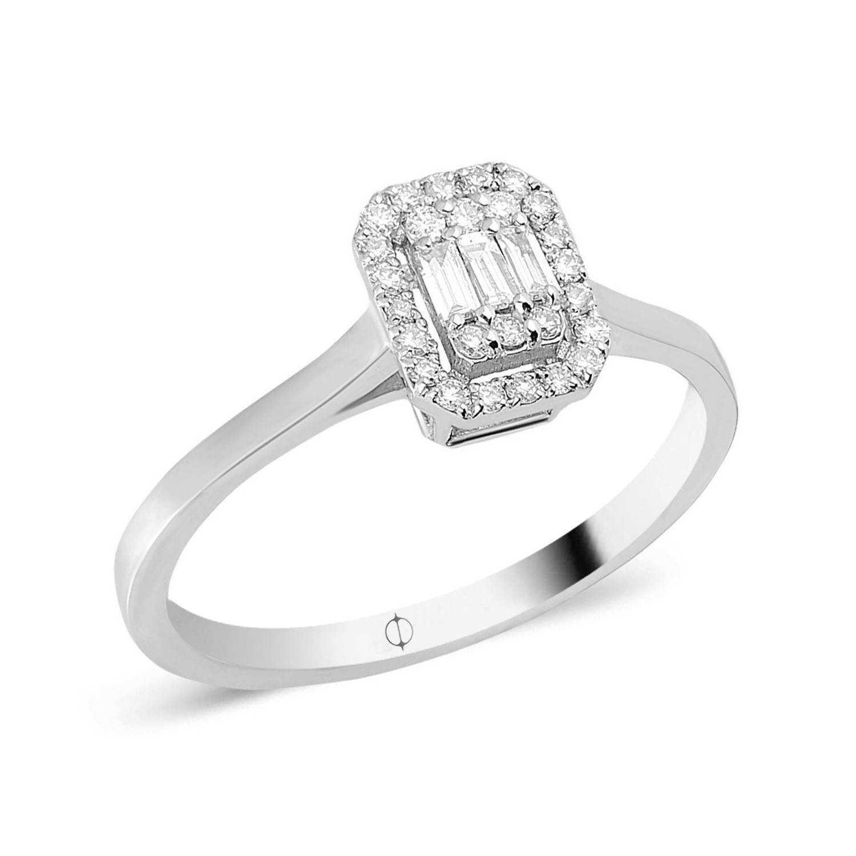 0.23 ct Baguette Diamant Ring