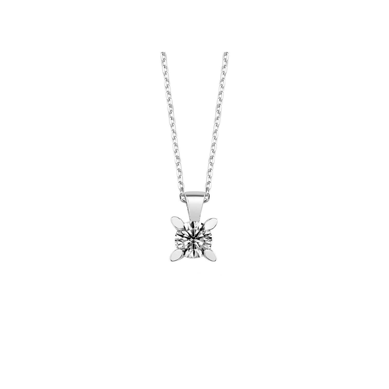 0.35 ct Solitär Diamant Halskette