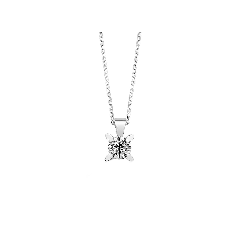0.40 ct Solitär Diamant Halskette