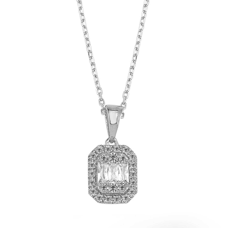 Baguette Diamant Halskette