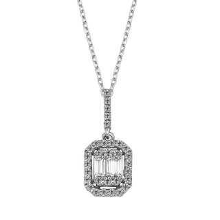 Baguette Diamond Necklace